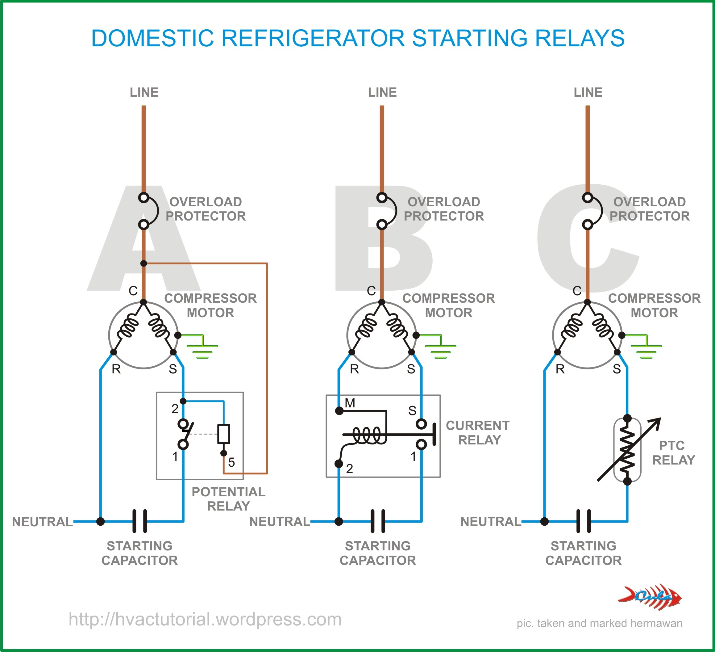refrigerator start relay wiring diagram Collection-Wiring Diagram Pics Detail Name refrigerator start relay wiring diagram – Domestic Refrigerator Starting 2-i