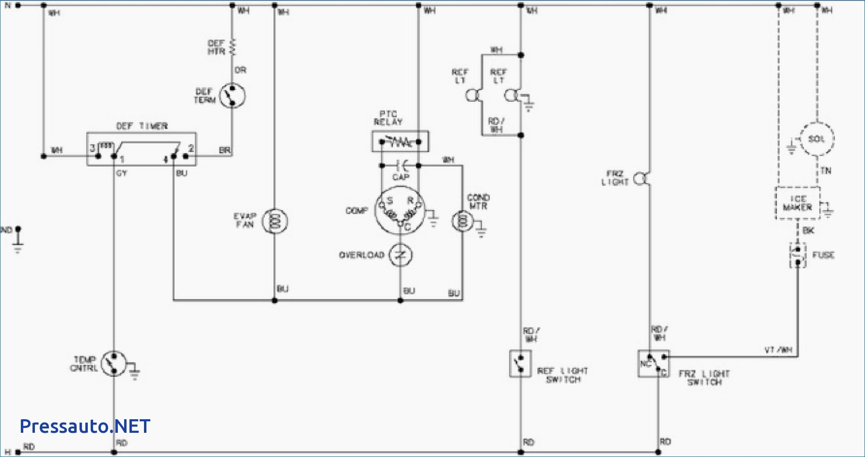 refrigerator wiring diagram pdf Collection-Amana Model Arb2257cw Need Legible Pdf Wiring Diagram And Within Refrigerator 20-e