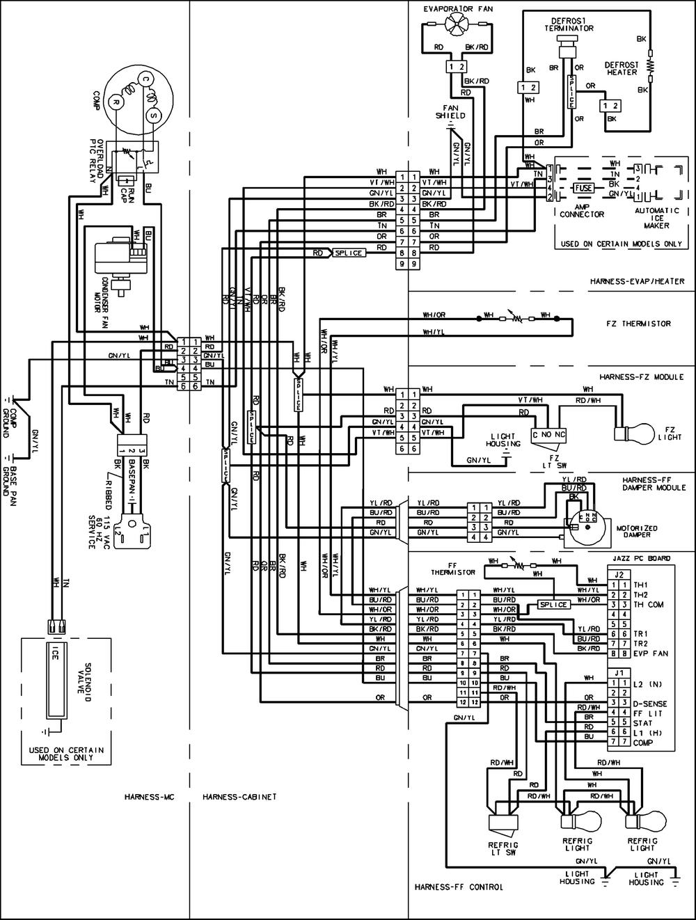 electrolux refrigerator wiring schematic refrigerator wiring diagram pdf | free wiring diagram amana refrigerator wiring schematic #9