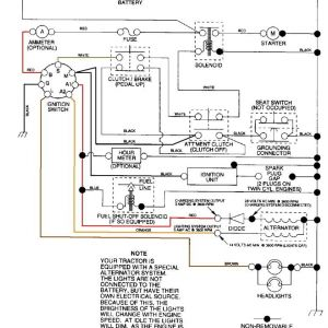 Riding Lawn Mower Ignition Switch Wiring Diagram - Craftsman Riding Mower Electrical Diagram 17g