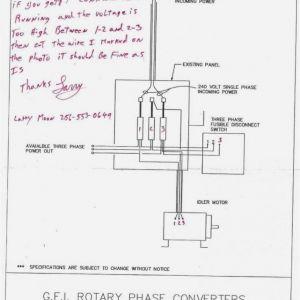 Ronk Phase Converter Wiring Diagram - Ronk Phase Converter Wiring Diagram 7 3m