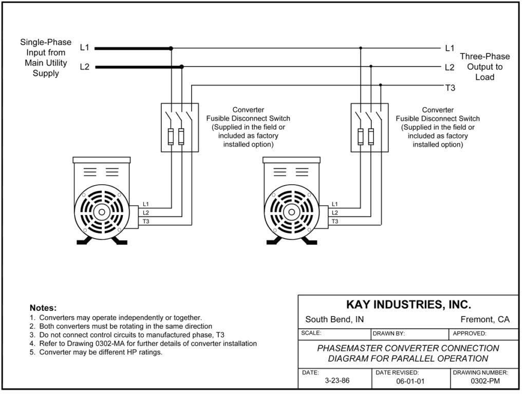 Roto Phase Converter Wiring Diagram