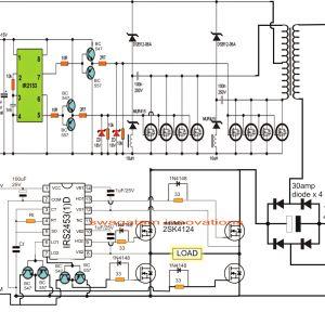 Rv Converter Wiring Schematic - Rv Converter Wiring Diagram Fresh Pwm Inverter Circuit 1 254—1 025 Piksel Load 20p