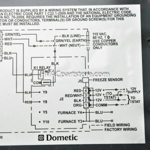 Rv thermostat Wiring Diagram - Samples Duo therm thermostat Wiring Diagram In Dometic Rv for 2c