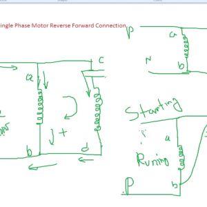 Single Phase Motor Wiring Diagram forward Reverse - Basic Connection Single Phase Motor Reverse and forward with Capacitor Wiring Diagram 16g