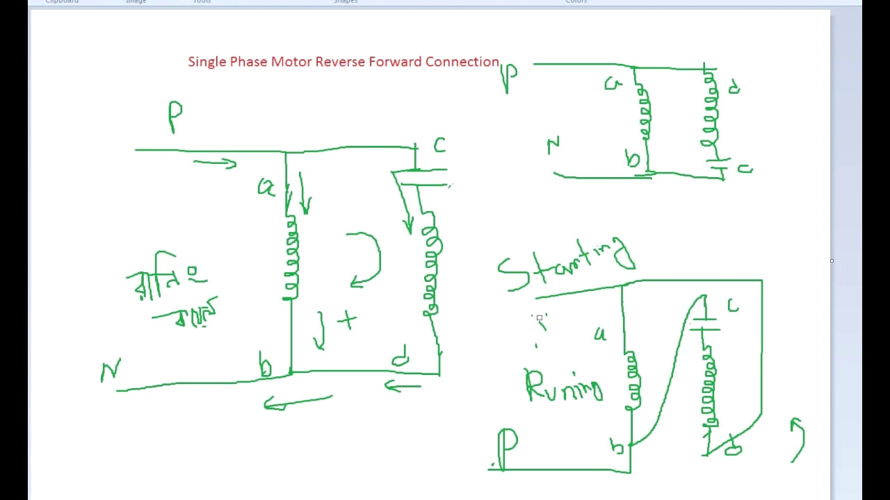 Single Phase Motor Wiring Diagram forward Reverse | Free ...