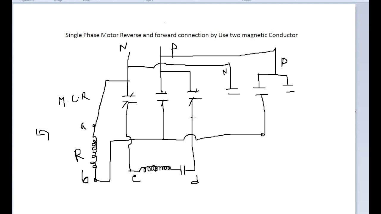 Single Phase Motor Wiring Diagram Forward Reverse Free Capacitor
