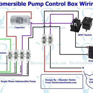 Single Phase Submersible Pump Starter Wiring Diagram - 3 Wire Submersible Pump Wiring Diagram 4b