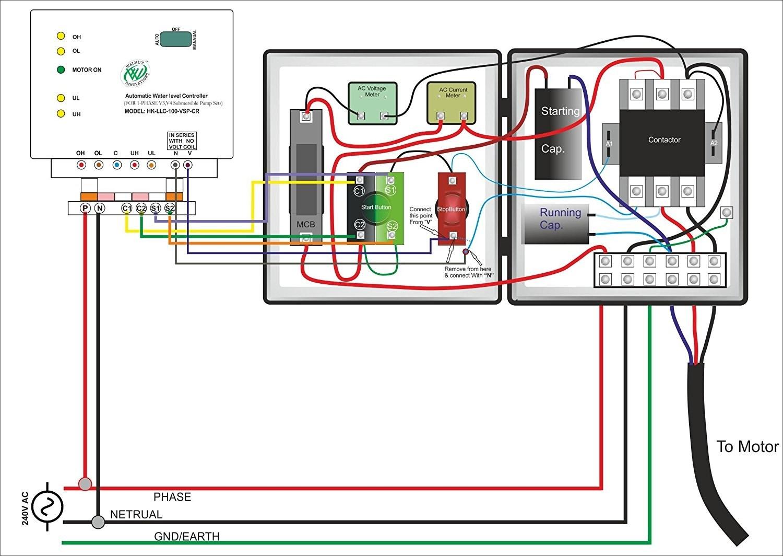 Single Phase Submersible Pump Starter Wiring Diagram ...