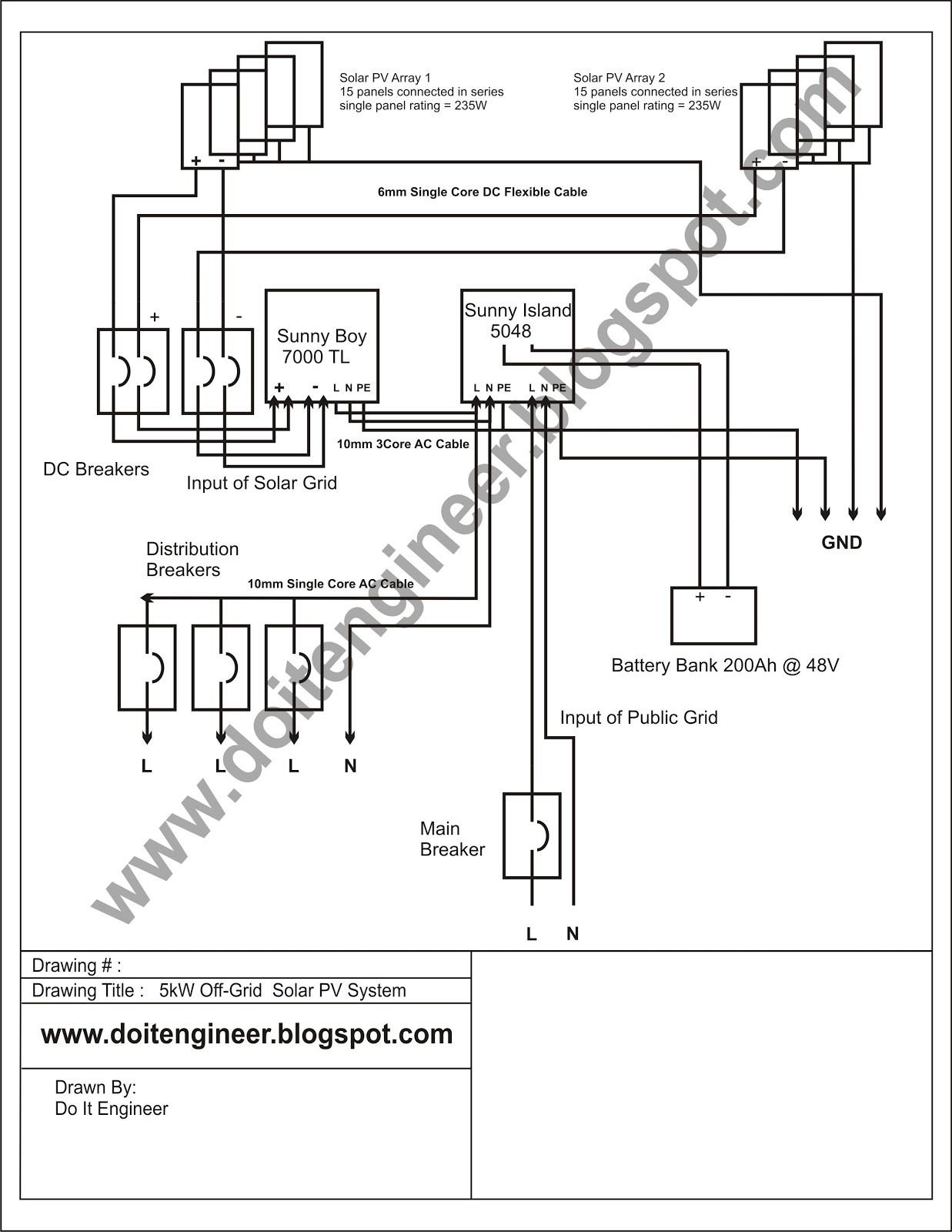 solar system wiring diagram Collection-Solar System Wiring Diagram New 5kw F Grid Solar Pv System Design Hybrid Odsolar 12-k