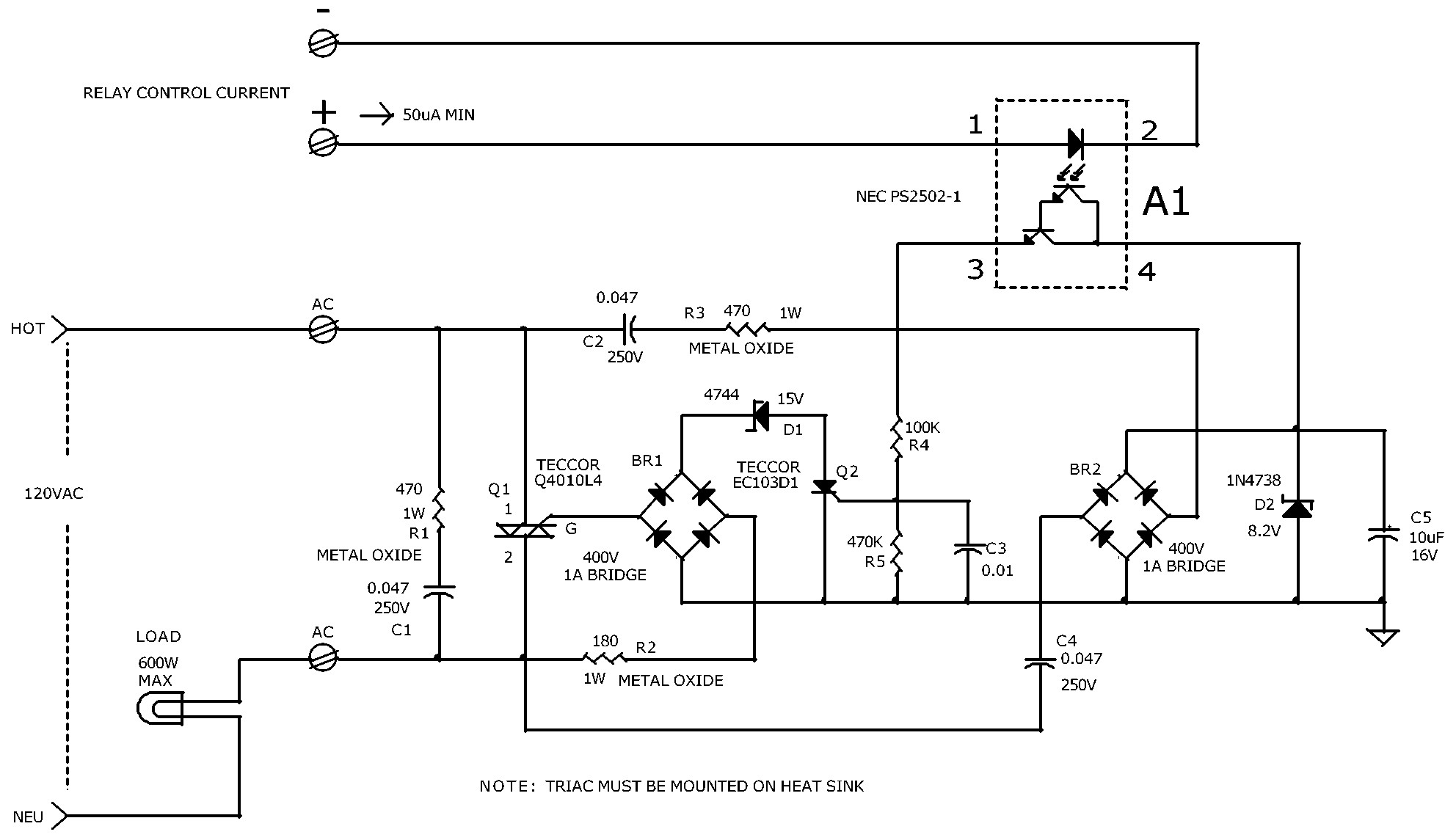 Solid State Relay Wiring Diagram | Free Wiring Diagram