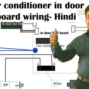 Split Air Conditioning Wiring Diagram - Split Air Conditioner Indoor Pcb Board Wiring Diagram Hindi 16i