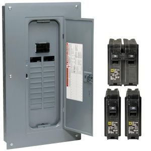 Square D Load Center Wiring Diagram - Homeline 100 Amp 20 Space 40 Circuit Indoor Main Breaker Qwik Grip Plug 5b