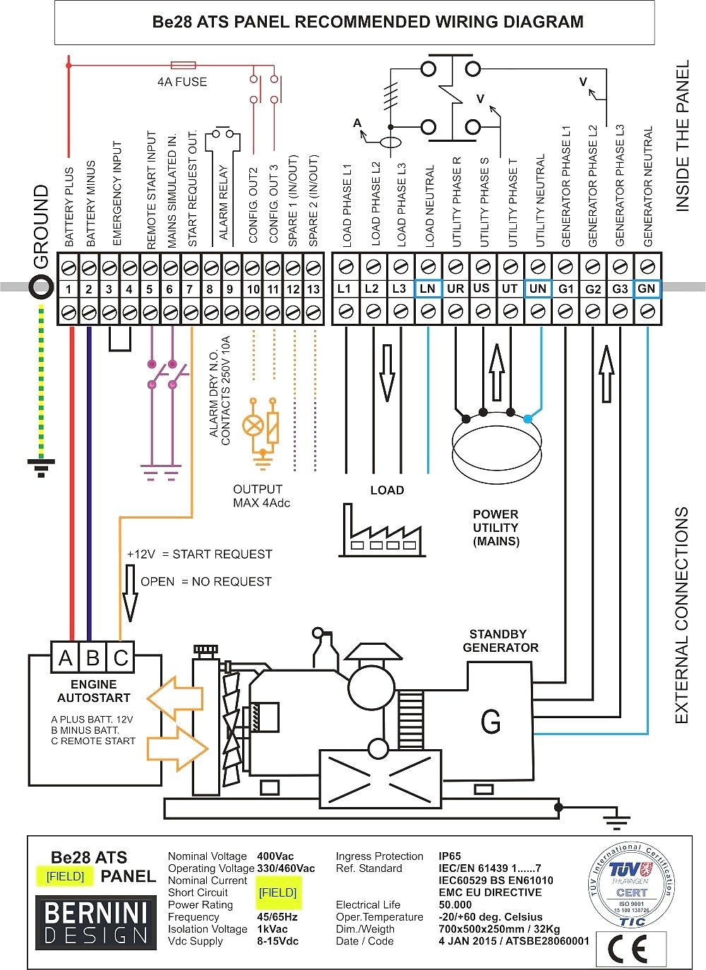 Standby Generator Wiring Diagram