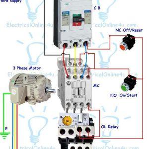 Start Stop Wiring Diagram Motor - 3 Phase Motor Starter Wiring Diagram Contactor Wiring Guide for 3 Phase Motor with Circuit 7p