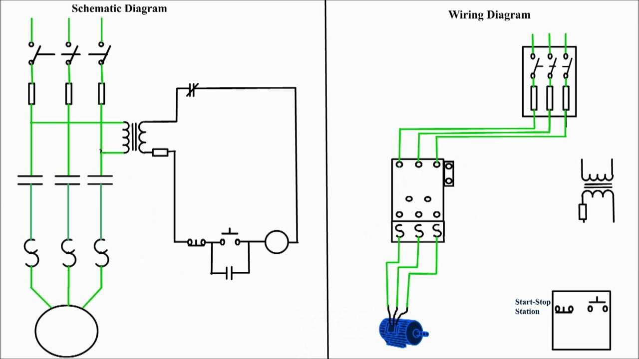 Start Stop Wiring Diagram Motor