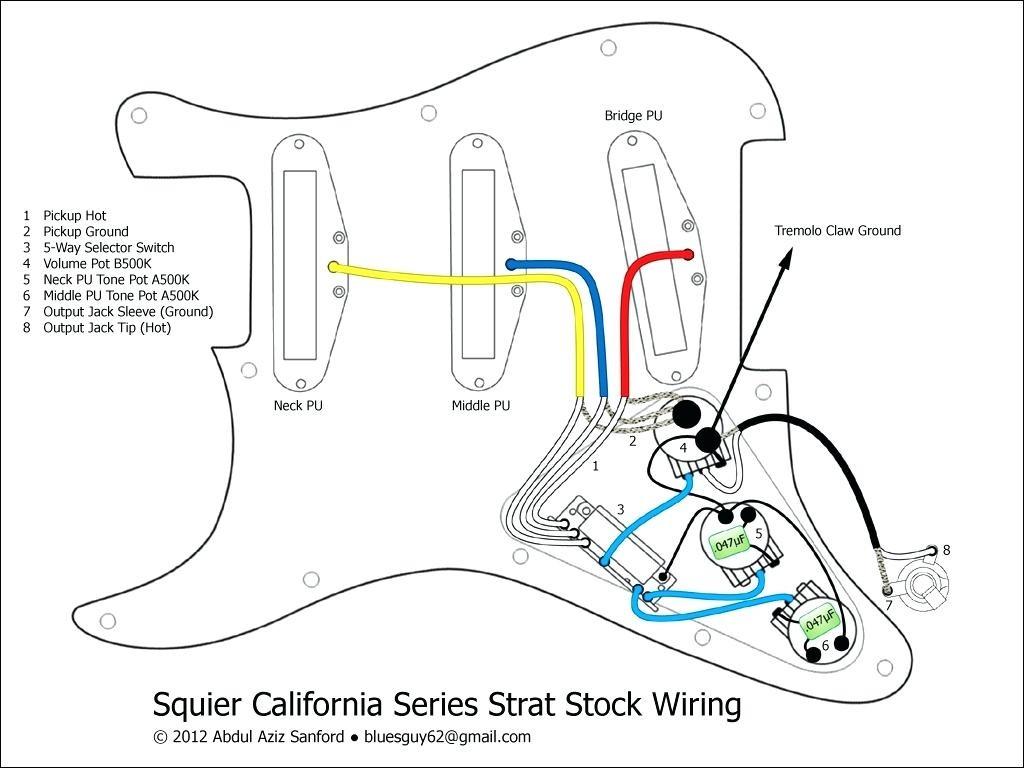 Strat Wiring Diagram 5 Way Switch | Free Wiring Diagram on fender strat noise less pickups installation diagram, fender stratocaster pickups diagram, guitar diagram,