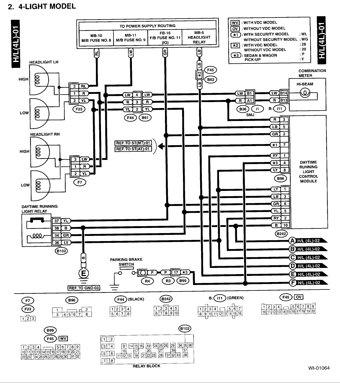 2001 Subaru Outback Wiring Harness Diagram - Wiring Diagram Expert on