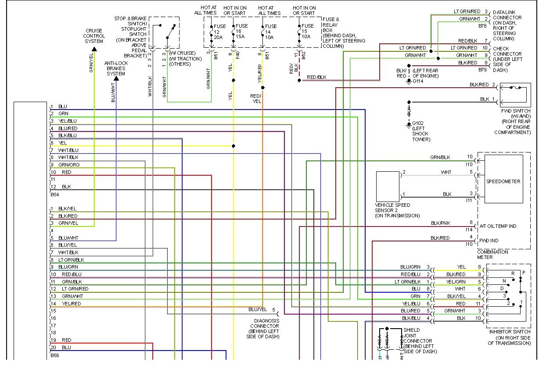 Subaru Wiring Diagram Color Codes