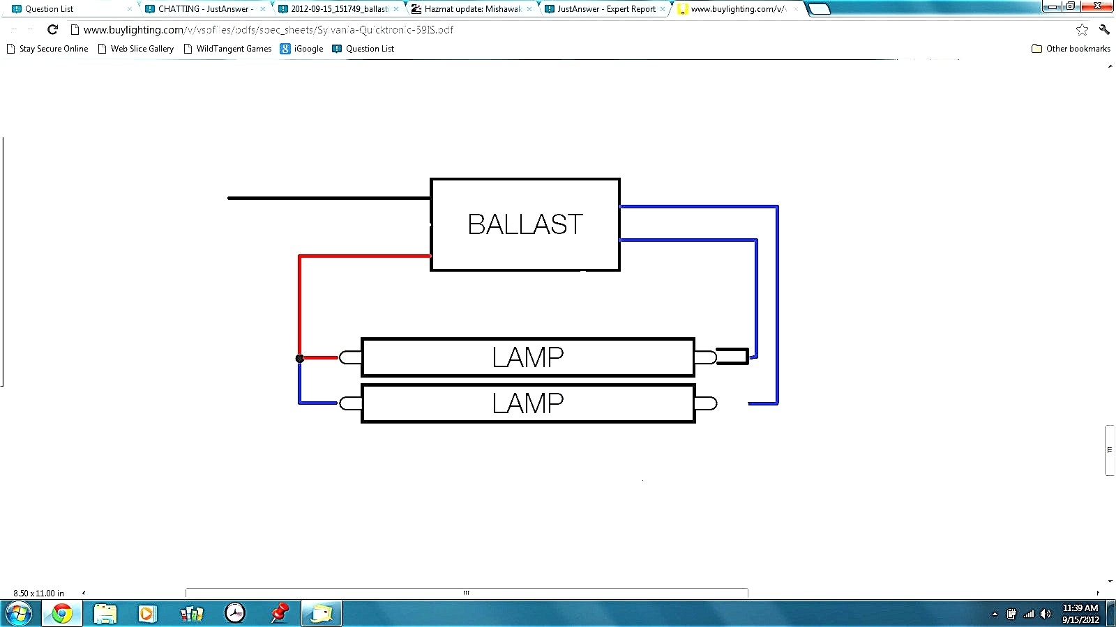 Sylvania Quicktronic Ballast Wiring Diagram