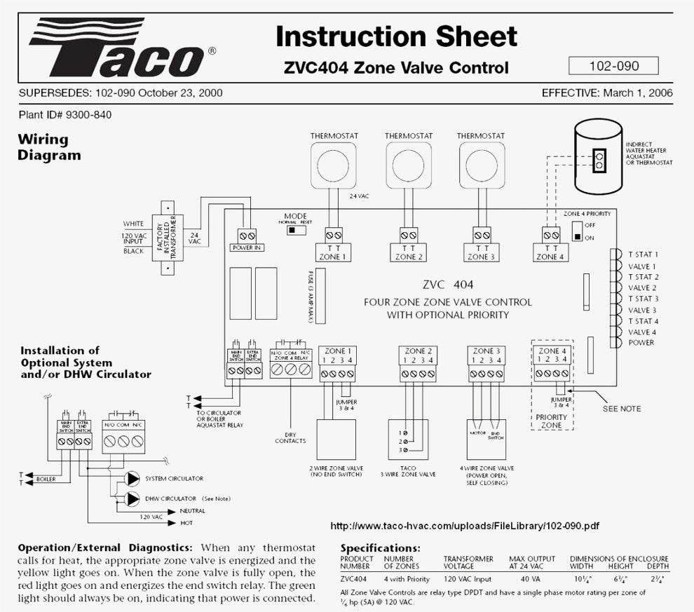 2 Taco Zone Valve Wiring Diagram Wiring Diagram