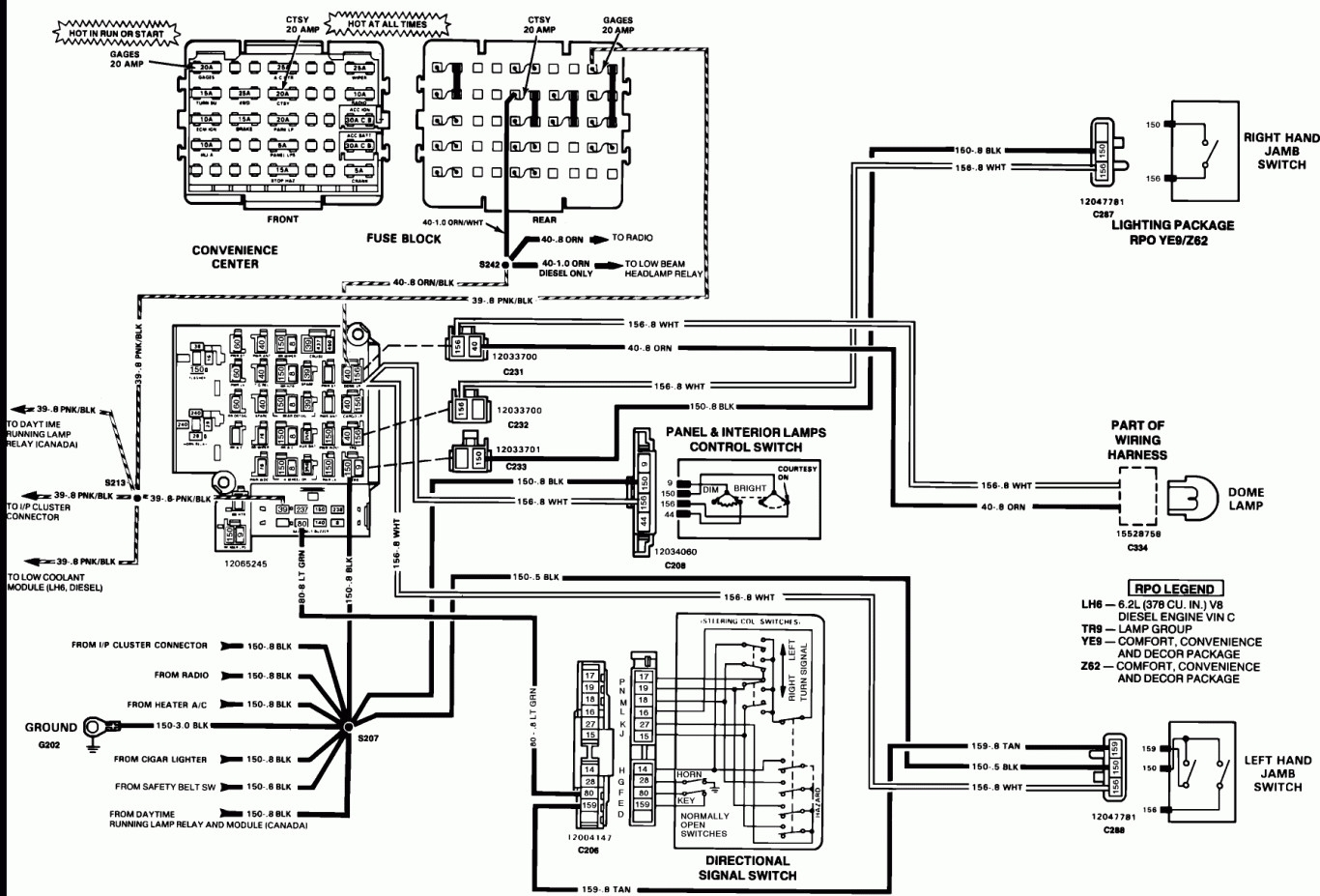 tail light wiring diagram 1995 chevy truck Collection-Tail Light Wiring Diagram 1995 Chevy Truck 018 At 7-k