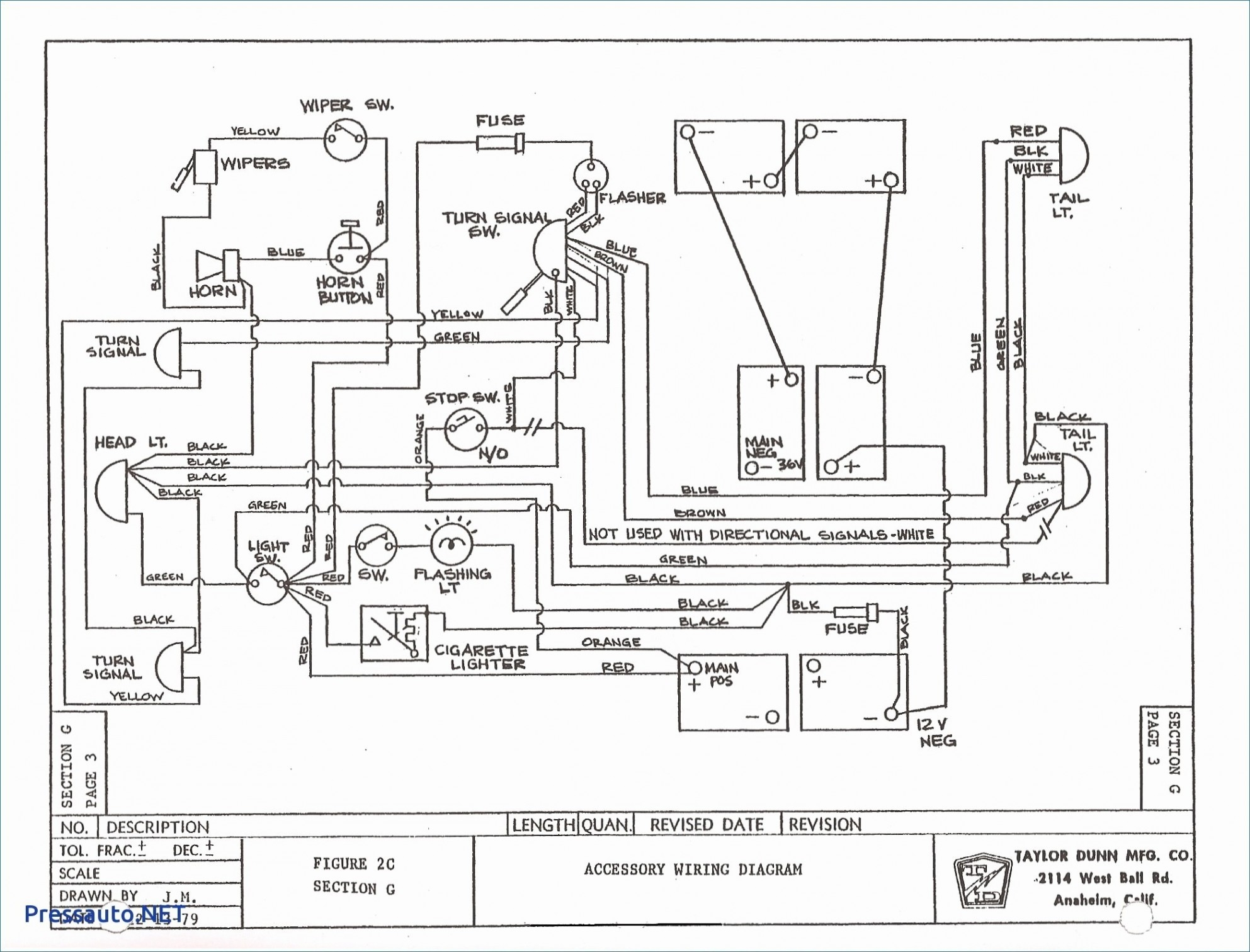 Taylor Dunn 36 Volt Wiring Diagram | Free Wiring Diagram