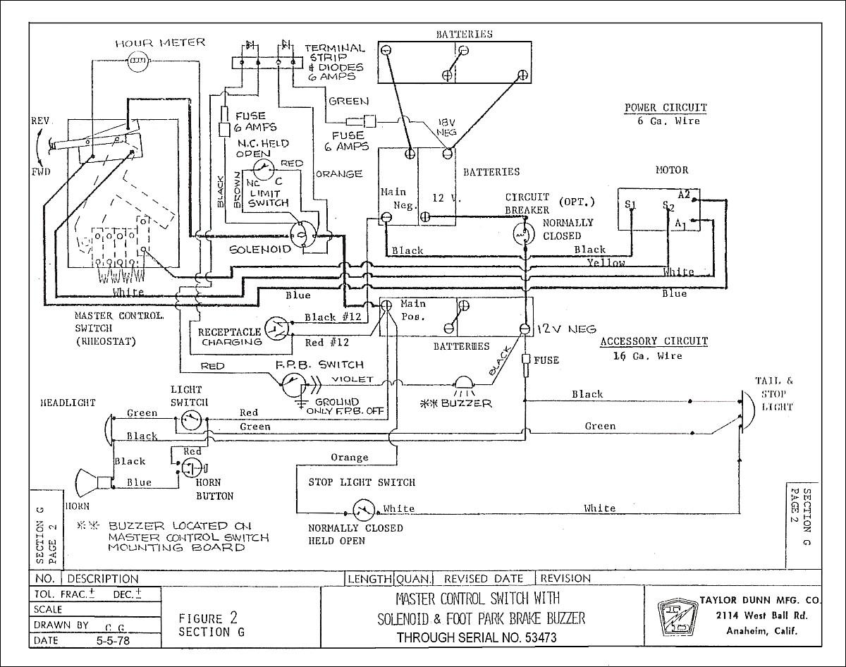 Taylor Dunn Wiring Diagram Free Wiring Diagram