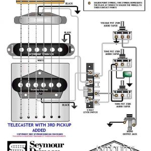 Telecaster 3 Pickup Wiring Diagram - Free Wiring Diagram Tele Wiring Diagram with A 3rd Pickup Added Telecaster Build Of 19k