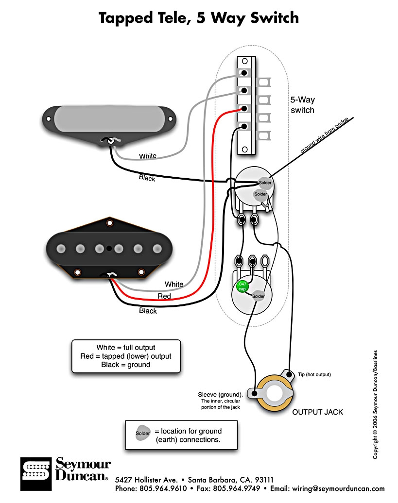 telecaster 3 pickup wiring diagram