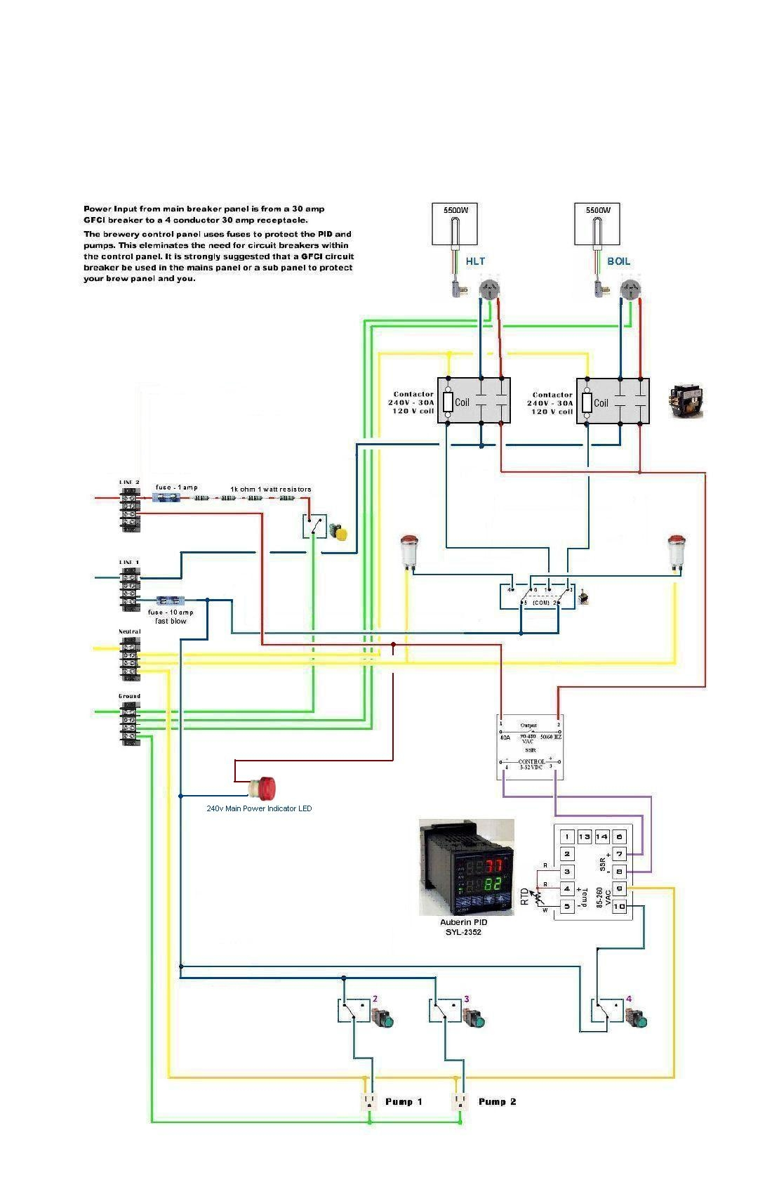 temperature controller wiring diagram Collection-my two 5500 watt element 1 pid and ssr build homebrewtalk rh homebrewtalk Toro ECx Sprinkler Wiring Diagram Board Camera Wiring Diagram 5-d