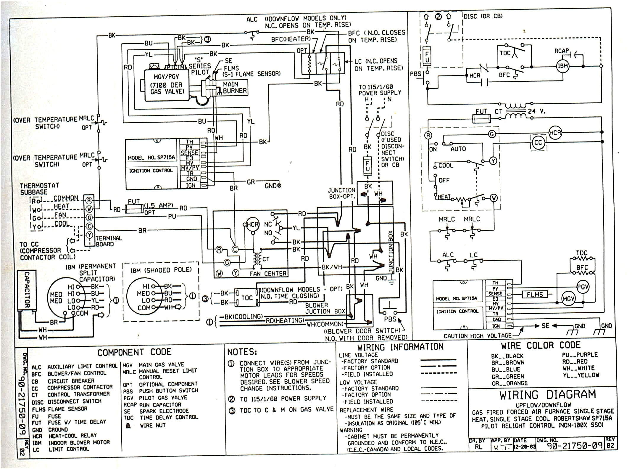 old gas furnace wiring diagram old icp furnace wiring diagram tempstar heat pump wiring diagram | free wiring diagram #9