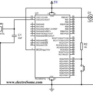 Tennant 5680 Wiring Diagram - Push button Switch Wiring Diagram Example Using Push button Switch with Pic Microcontroller Hi Tech 12r