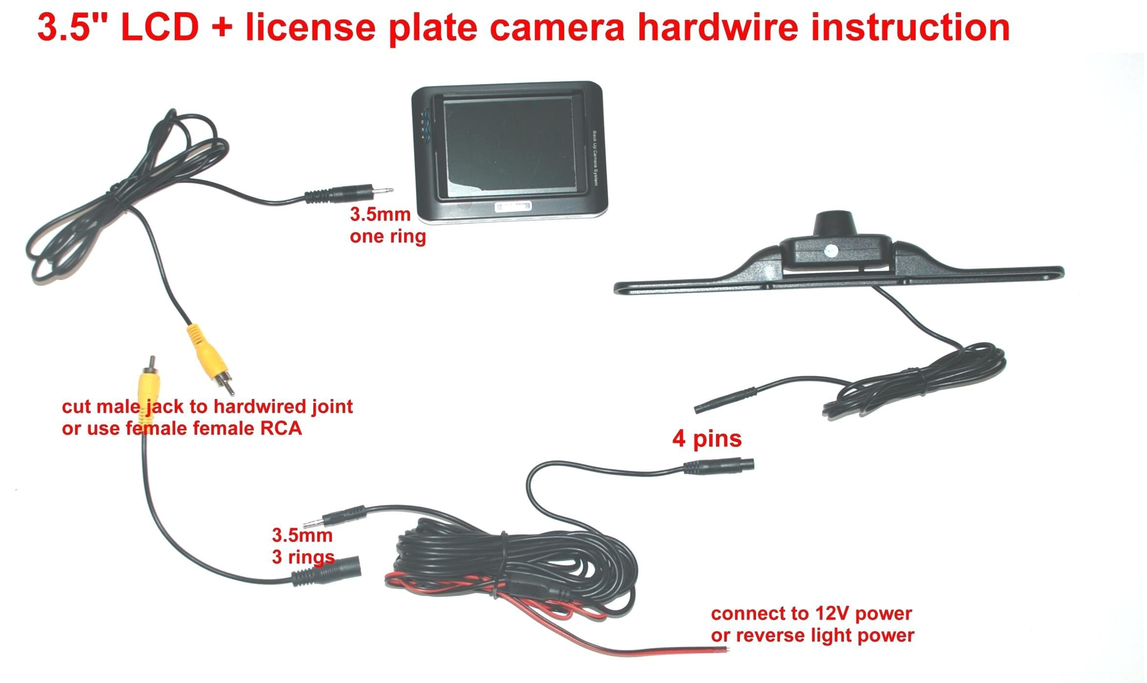 tft lcd monitor reversing camera wiring diagram | free ... wiring diagram for reverse camera