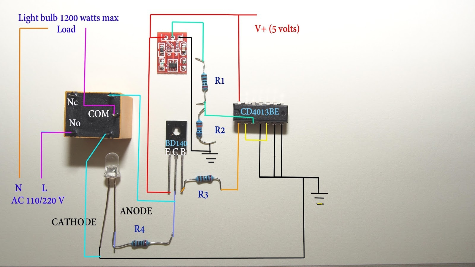 Touch Lamp Sensor Wiring Diagram