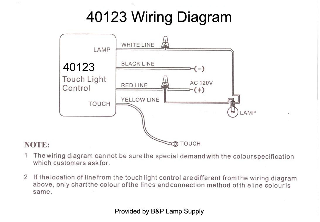 touch lamp sensor wiring diagram Download-Wiring Instructions 8-r
