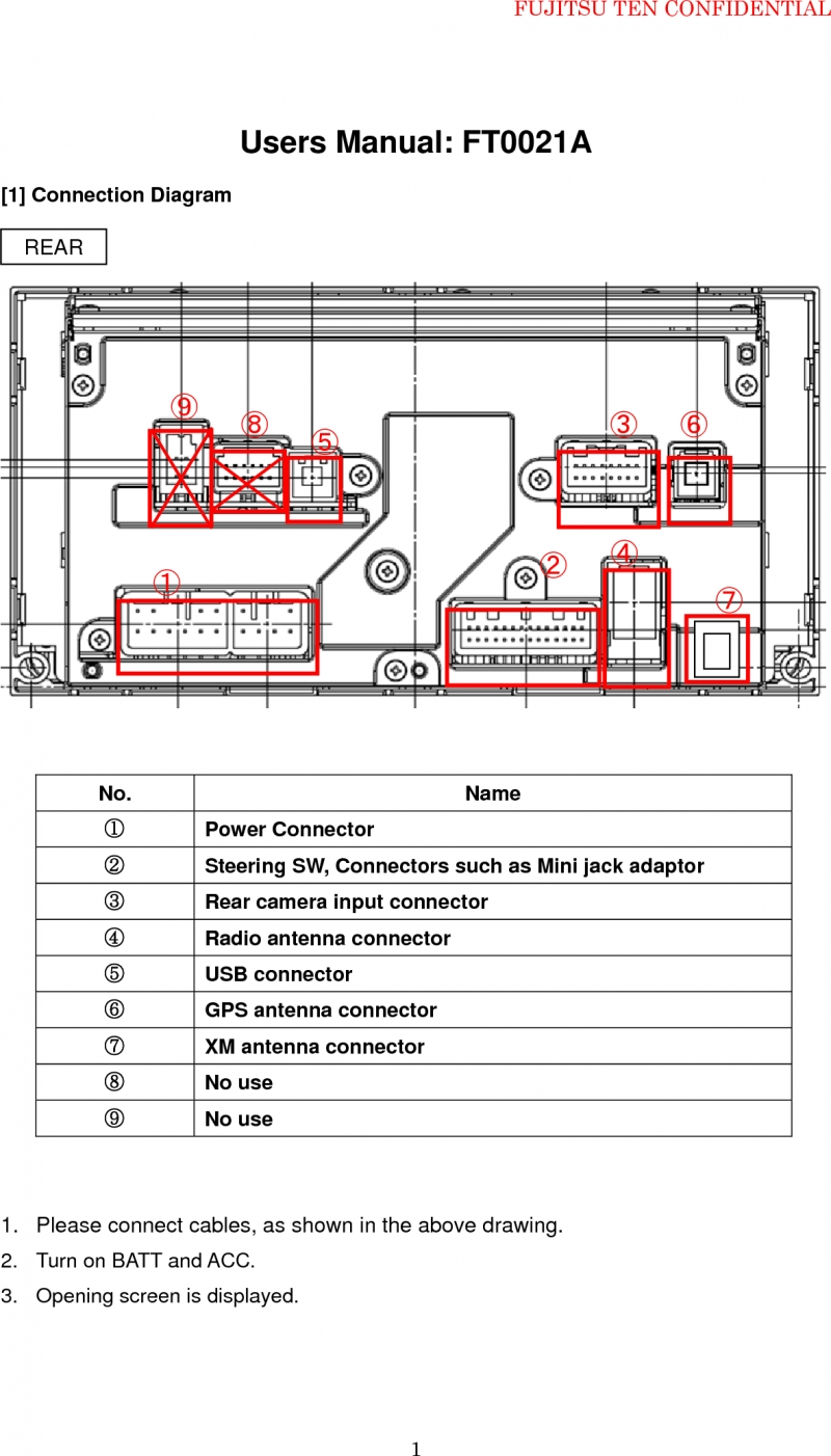 2005 Toyota Radio Wiring Diagram