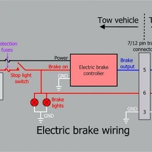 Trailer Wiring Diagram with Electric Brakes - Curt Trailer Brake Controller Wiring Diagram Control In 17l
