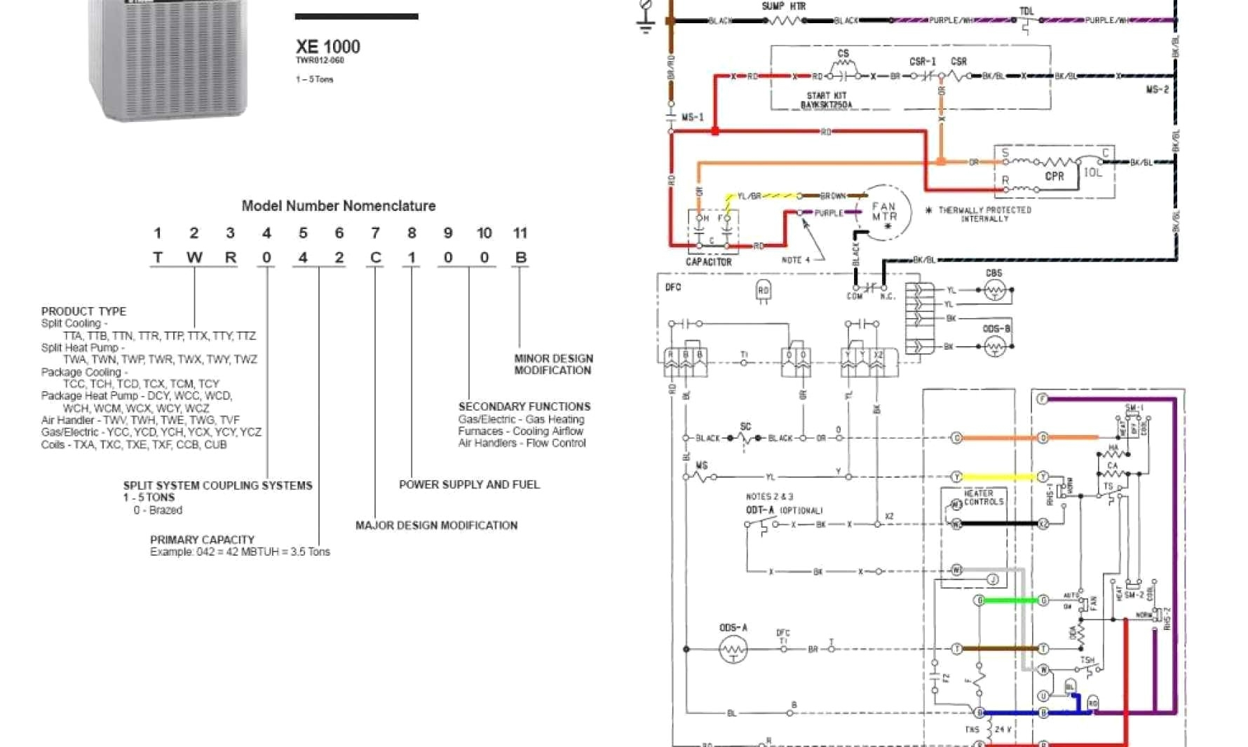 trane heat pump wiring schematic Download-Trane Thermostat Wiring Diagram How To Program Trane Thermostat 6-s