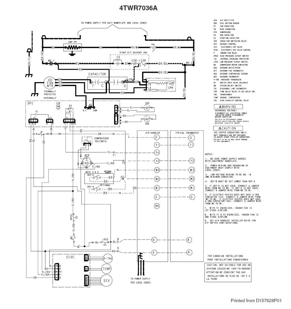 Trane Xr14 Wiring Diagram