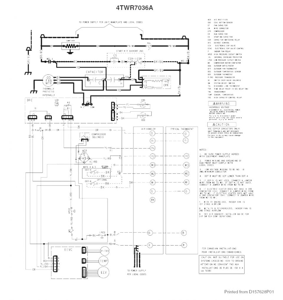 trane wiring diagram heat pump | free wiring diagram heat pump condenser fan wiring diagram