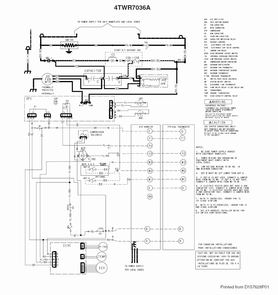trane furnace wiring diagram trane ac wiring diagram