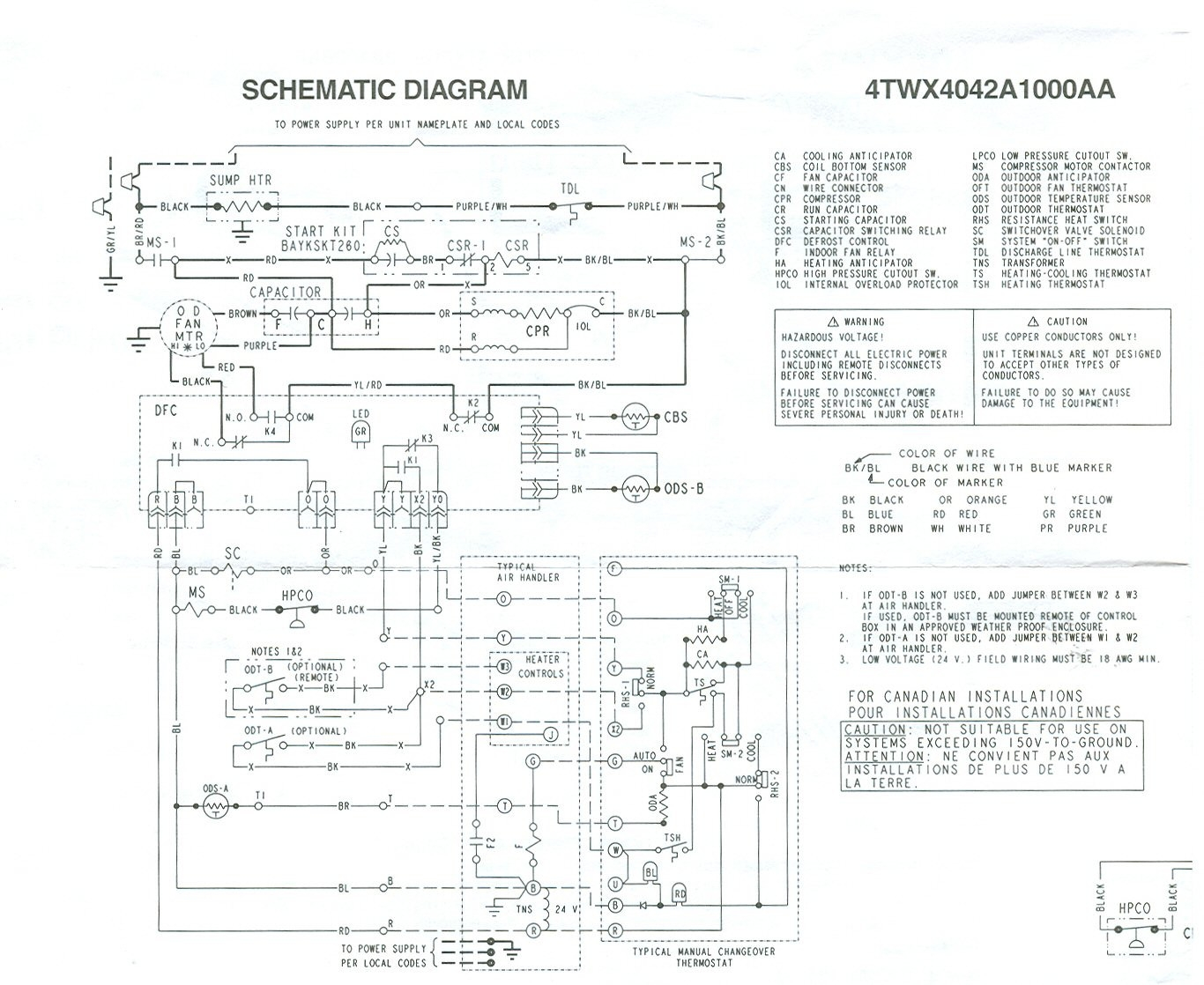 Trane Xr80 Wiring Diagram