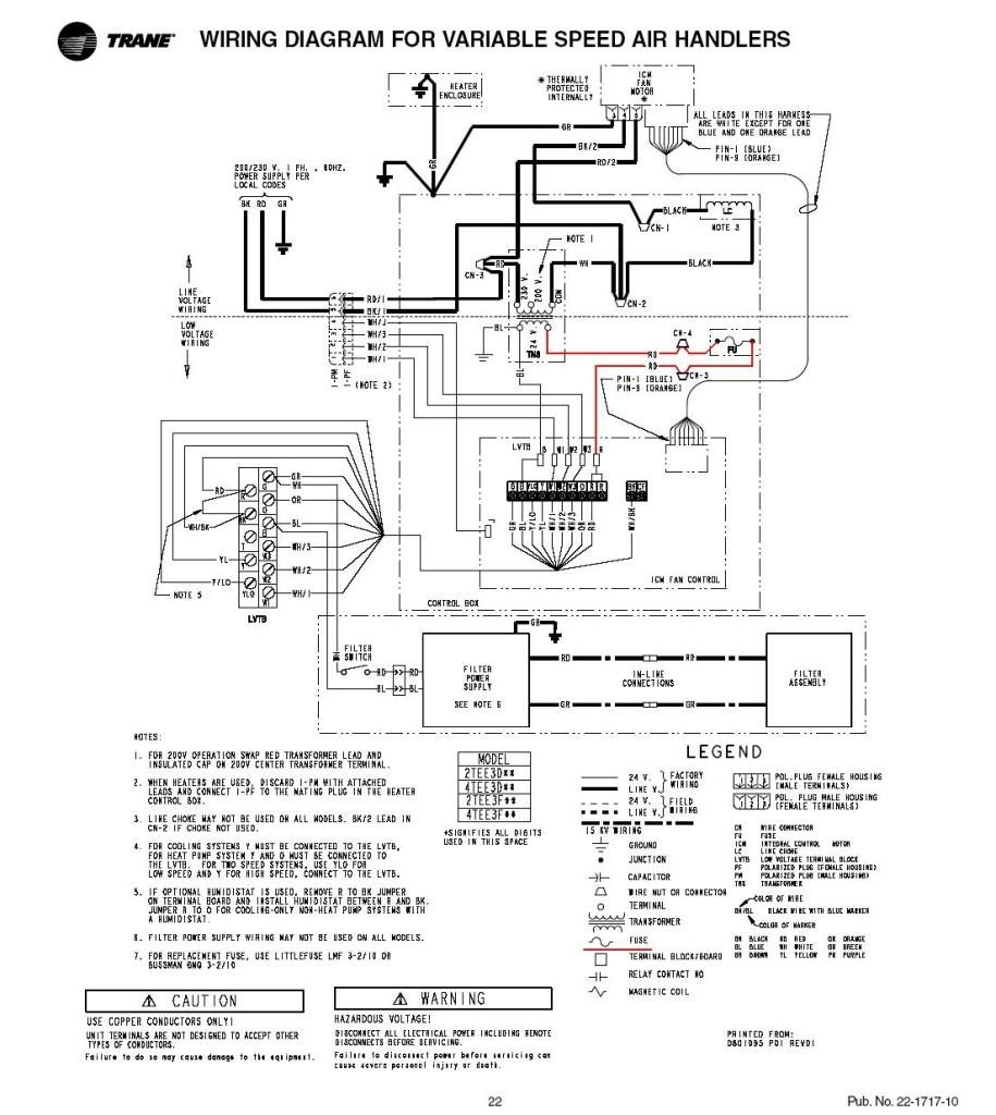 trane ycd 060 wiring diagram Collection-Trane Air Handler Wiring Diagram And Trane4TEE3and2TEE3diagram 4-k