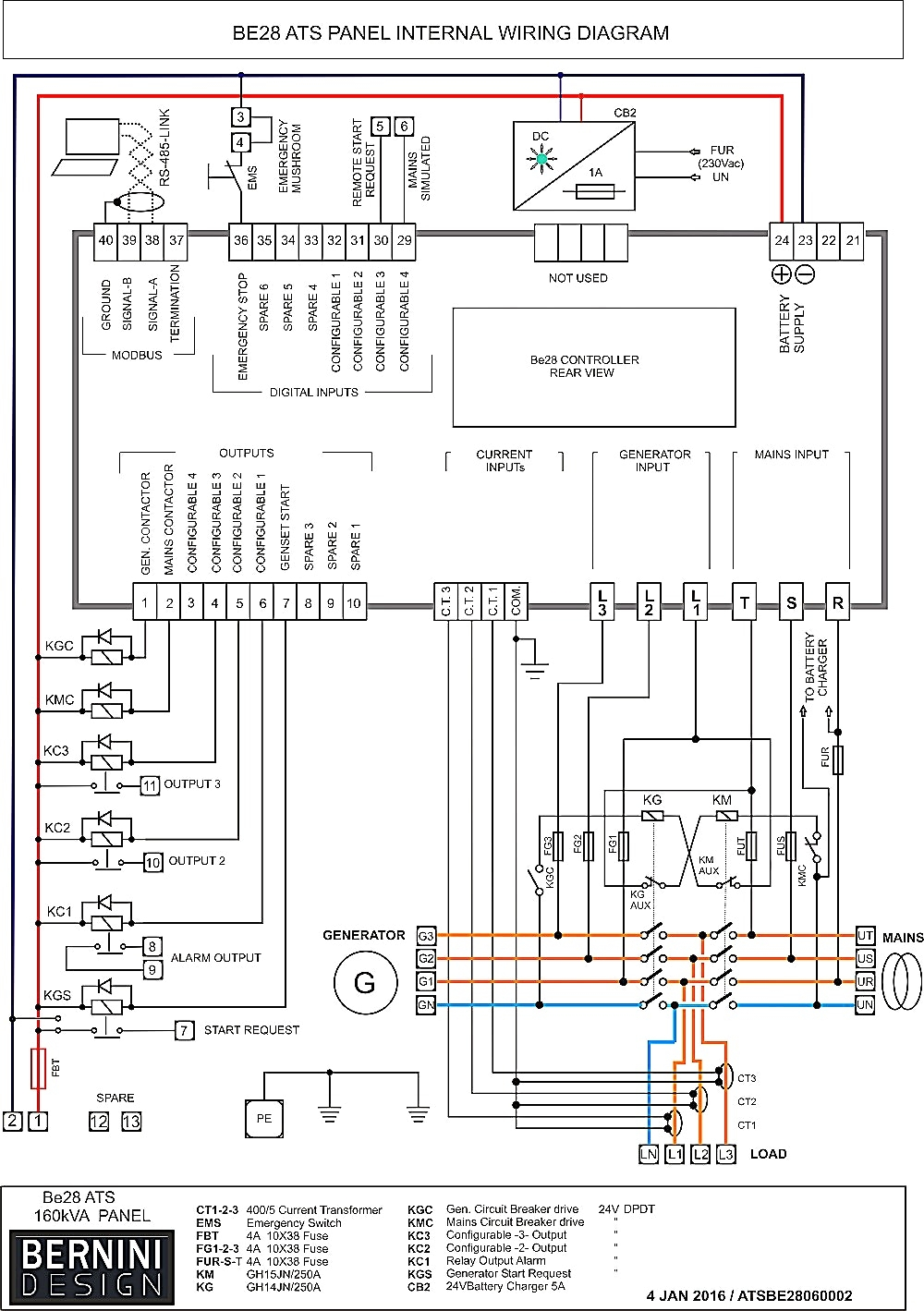 Transfer Switch Wiring Schematic