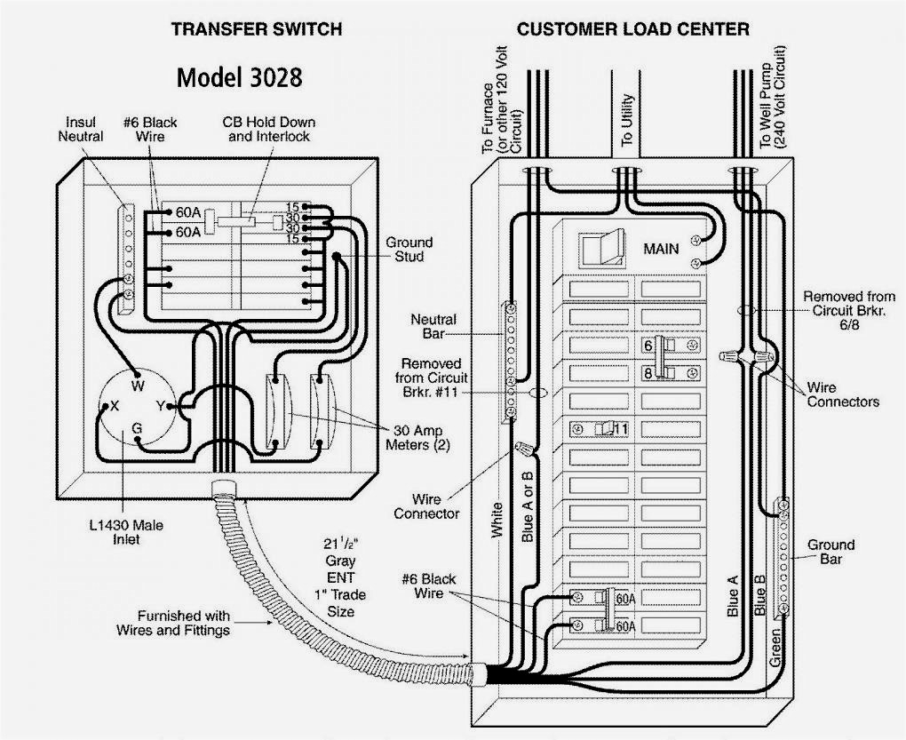 Transfer Switch Wiring Schematic