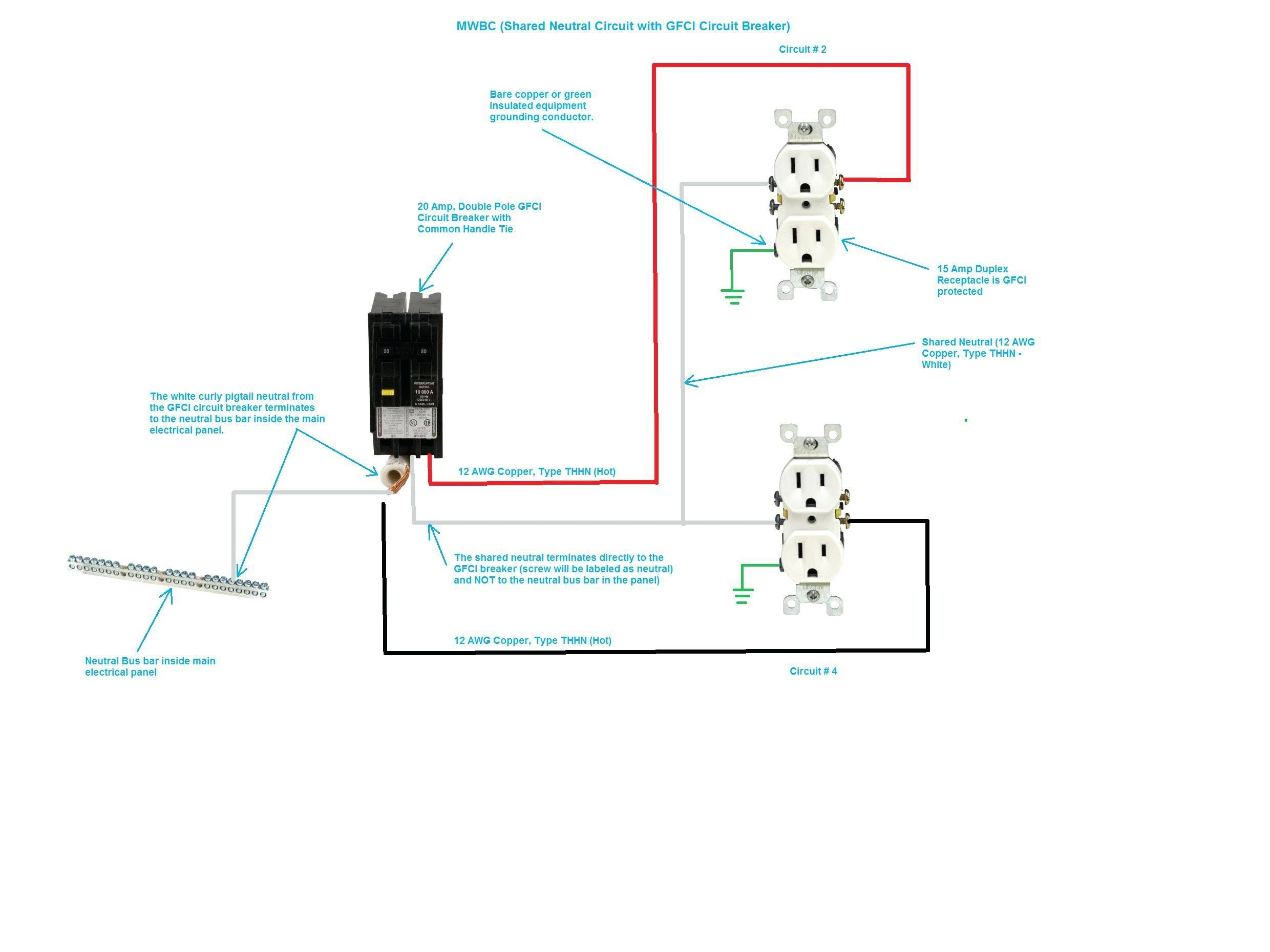 two pole gfci breaker wiring diagram free wiring diagram. Black Bedroom Furniture Sets. Home Design Ideas