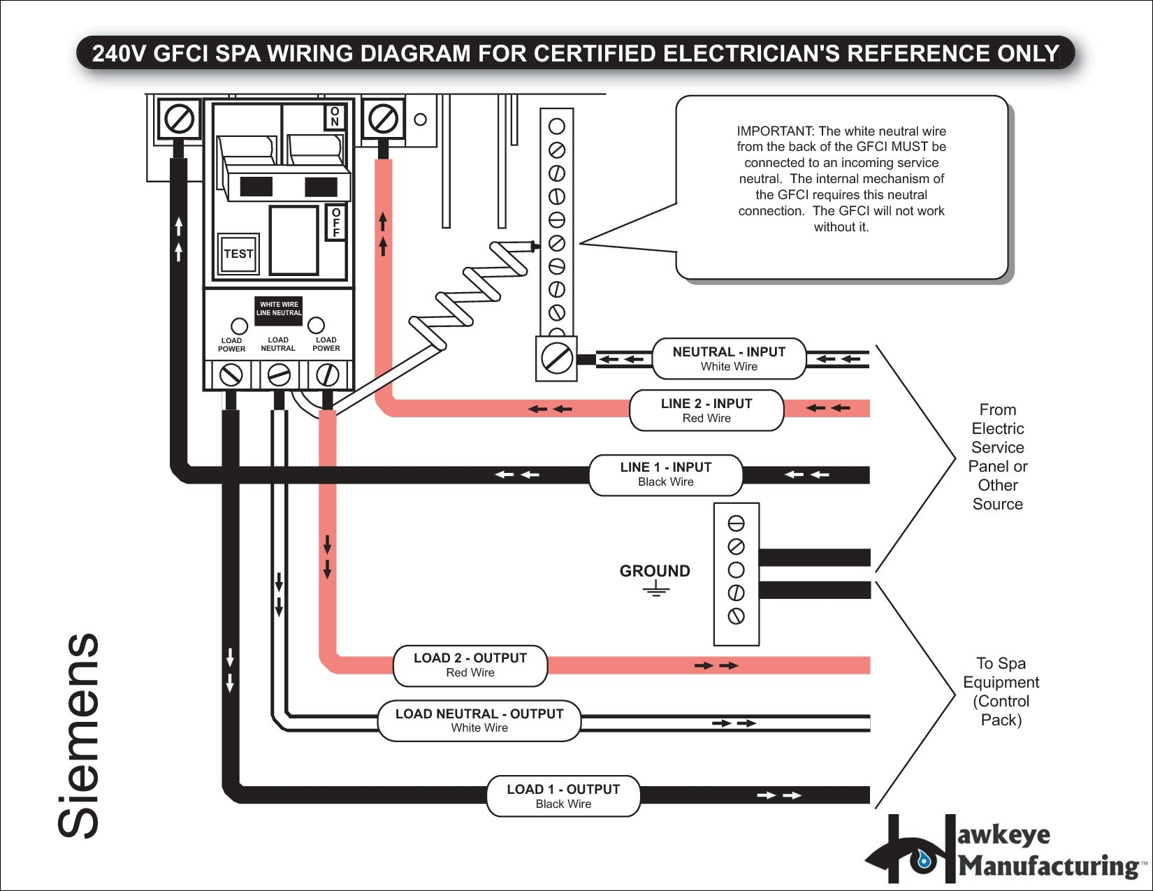 two pole gfci breaker wiring diagram