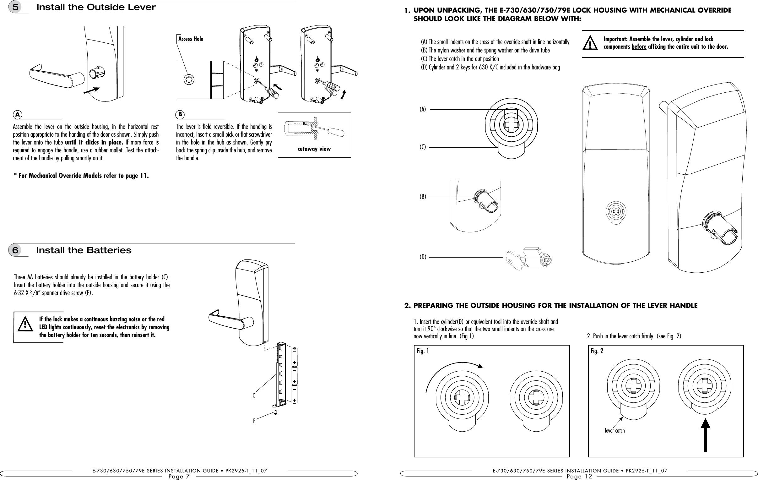 Type B Door Locks Wiring Diagram