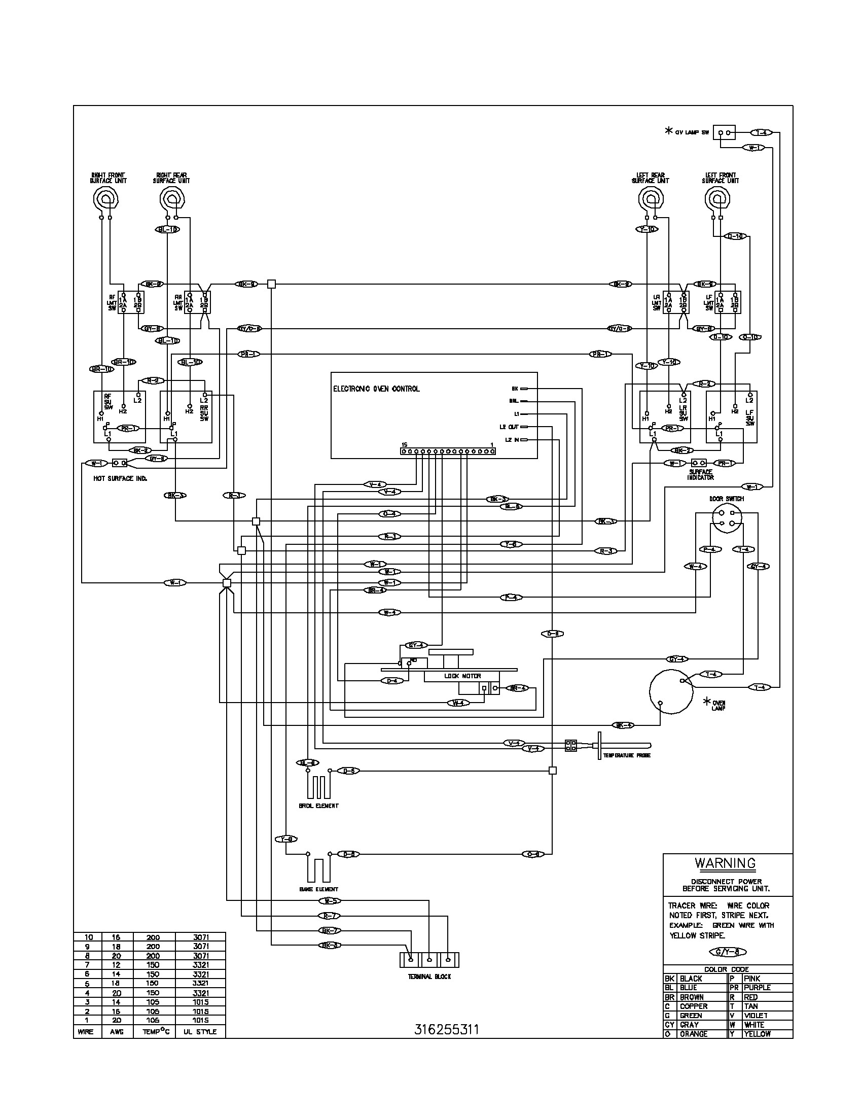 Gas Oven Wiring Diagram | Wiring Diagram
